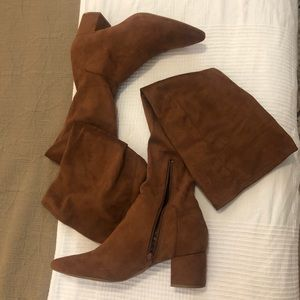 *Wide Calf* Faux Suede Over the Knee Boots EUC